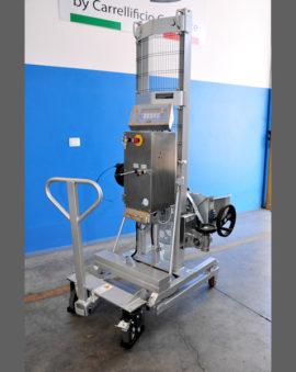 Sollevatore pneumatico pesatore
